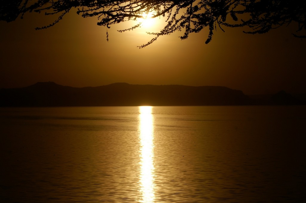 Shala Lake sunset