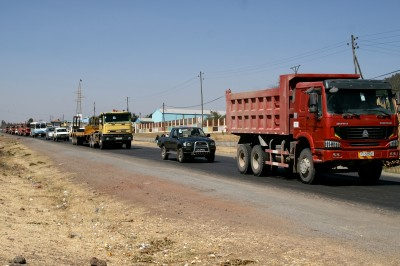 traffic jam close to Addis