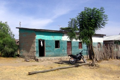 hut & motocycle